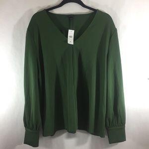 NEW Ann Taylor green v neck blouse
